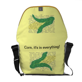 Corn Allergens on your bag. (outer graphics only) Messenger Bags