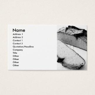 Corn bread business card