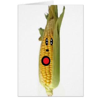 Corn Cartoon Card