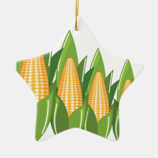Corn Cob Ceramic Ornament