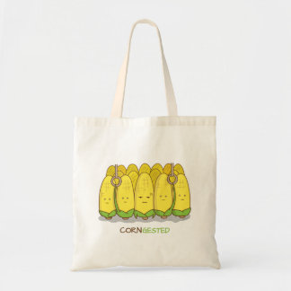 Corn Congested Public Transport Corny Pun Tote Bag