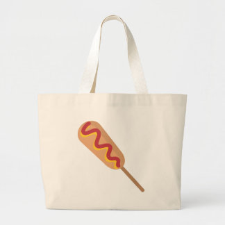 Corn Dog Drawing Large Tote Bag