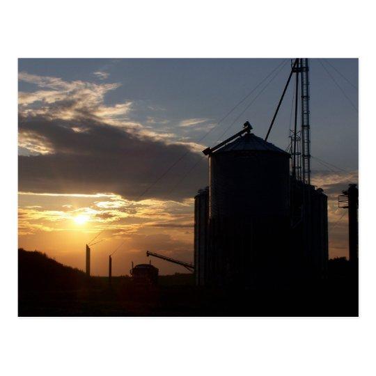 Corn Dryer & SunRise Postcard