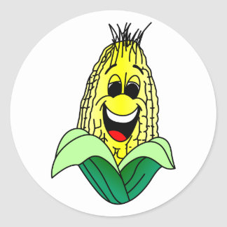 Corn Face Classic Round Sticker