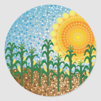 Corn Field Classic Round Sticker