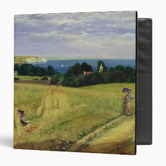 Corn Field in the Isle of Wight 3 Ring Binders