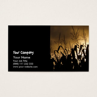 Corn field silhouettes business card