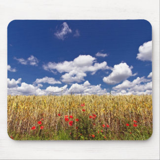 Corn field with poppy mousepad