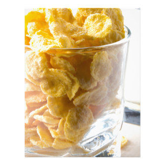 Corn flakes and glass of milk letterhead