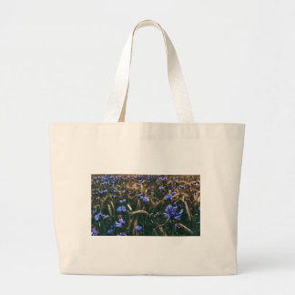 Corn Flower in Field Large Tote Bag