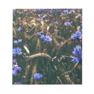 Corn Flower in Field Notepad