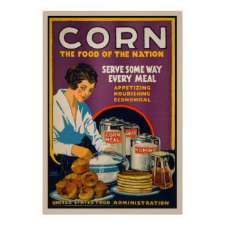 Corn - Food Of The Nation Vintage Poster