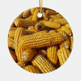 Corn Harvest Ceramic Ornament