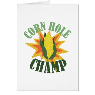 Corn Hole Champ Card