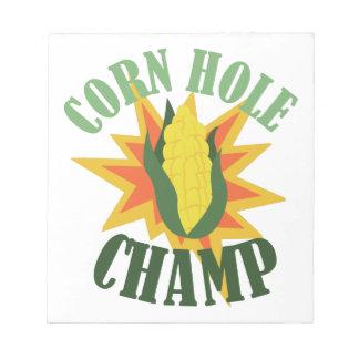 Corn Hole Champ Notepad