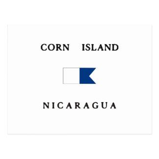 Corn Island Nicaragua Alpha Dive Flag Postcard
