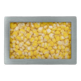 Corn kernel rectangular belt buckle