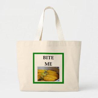 corn large tote bag