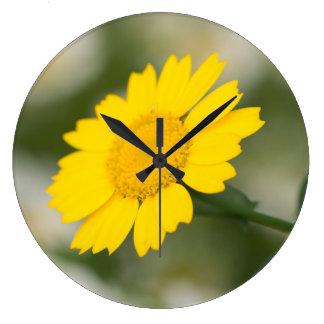 Corn Marigold Large Clock