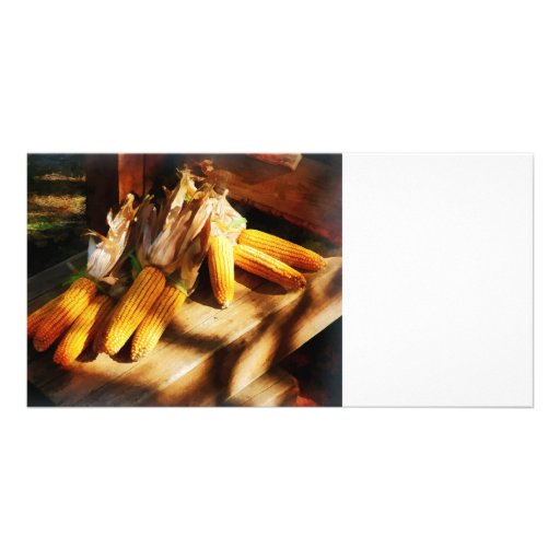 Corn on the Cob at Outdoor Market Photo Card Template