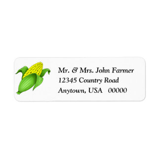 Corn On The Cob Return Address Labels