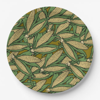 Corn or Maize 9 Inch Paper Plate