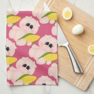 Corn Pig cartoon kitchen towel