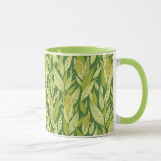 Corn plants pattern background mug