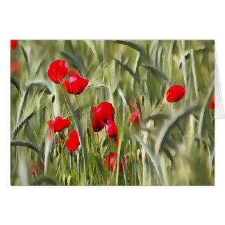 Corn Poppies Card