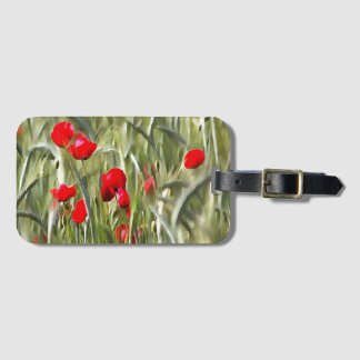 Corn Poppies Luggage Tag