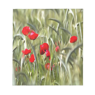Corn Poppies Notepads