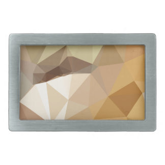 Corn Yellow Beige Abstract Low Polygon Background Belt Buckles
