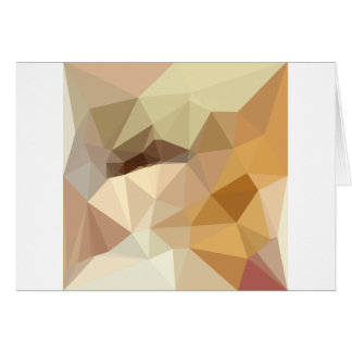 Corn Yellow Beige Abstract Low Polygon Background Card
