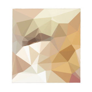 Corn Yellow Beige Abstract Low Polygon Background Notepads
