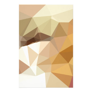 Corn Yellow Beige Abstract Low Polygon Background Stationery