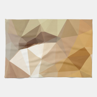 Corn Yellow Beige Abstract Low Polygon Background Towels