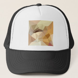 Corn Yellow Beige Abstract Low Polygon Background Trucker Hat