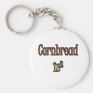 Cornbread Basic Round Button Keychain