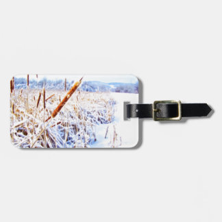 Corndog in the snow luggage tag