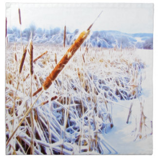 Corndog in the snow printed napkins