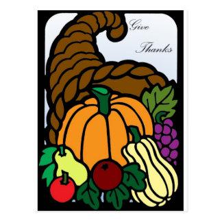 Corne d'abondance de thanksgiving cartes postales