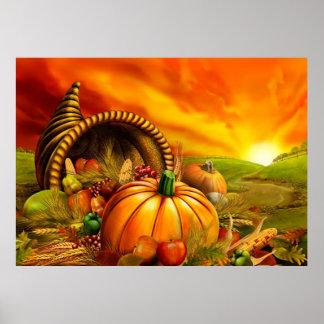 Corne d'abondance de thanksgiving poster