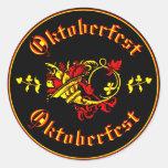 Corne d'abondance d'Oktoberfest Adhésif Rond