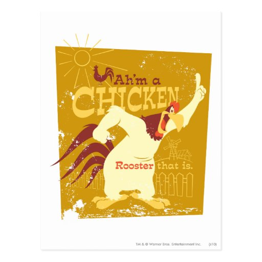 Corne de brume Ah'm un poulet Carte Postale