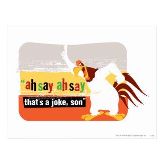 Corne de brume qui est une plaisanterie, fils carte postale