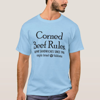 Corned Beef Rules (Front Graphic) T-Shirt