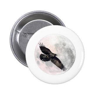 Corneille de pleine lune macaron rond 5 cm