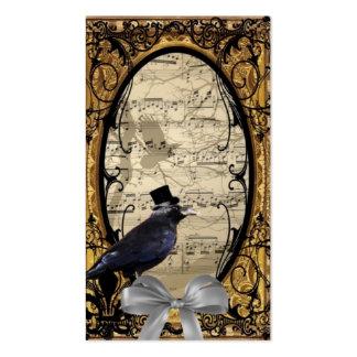 Corneille gothique vintage drôle de mariage carte de visite standard