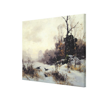 Corneilles en hiver Landscape, 1907 Impression Sur Toile