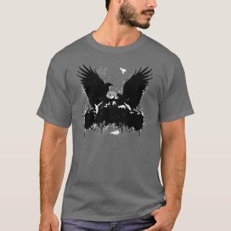 Corneilles volantes urbaines artistiques de t-shirt